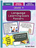 Grade 4 Language Learning Goals Posters - 90 pages