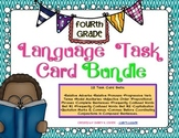 Grade 4 Language Task Card Bundle