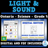 Grade 4 - Light & Sound - Ontario Science - Distance Learning