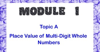 Grade 4 MATH - MODULE 1 TOPIC A Place Value of Multi-Digit