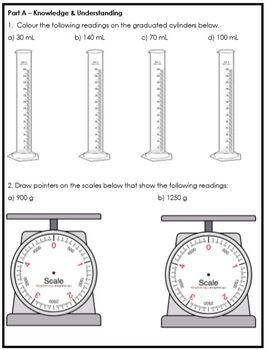 Grade 5 Mass, Capacity & Volume Assessment
