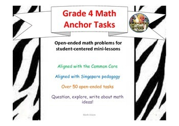 Grade 4 Math Open-Ended Daily Performance Tasks