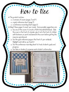 Grade 4 Math Anecdotal Notebok