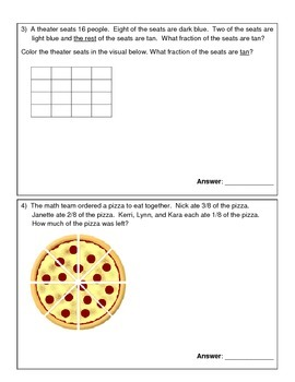 Grade 4 Math Assessment - Adding and Subtracting Fractions