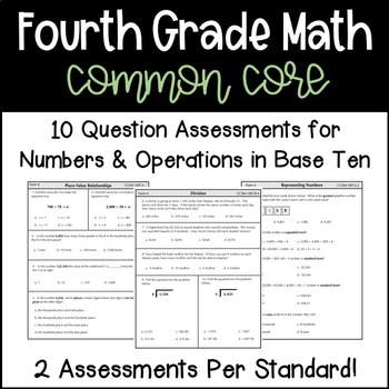Fourth Grade Common Core Math Assessments