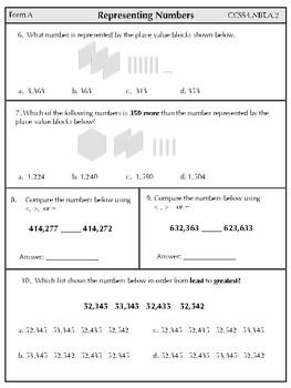 Grade 4 Math Assessments! Common Core Aligned
