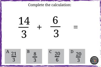 Grade 4 Math Assessments: Fractions