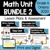 Grade 4 Ontario Math Units Bundle 2