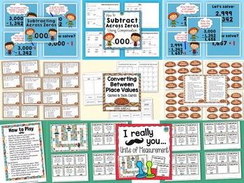 Grade 4 Math Bundle: Centers, Games, and Task Cards