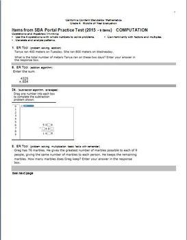 Grade 4 Math, CA Content Standards, Common Core Standards, Midyear Evaluation
