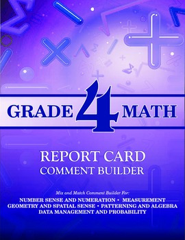 Grade 4 Math Comment Builder