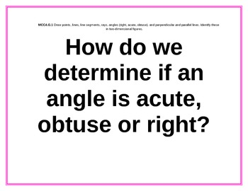 Grade 4 Math Common Core How can we....Essential Questions Unit 6 Geometry