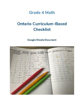 Grade 4 Math - Curriculum-Based Checklist