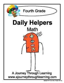 Grade 4 Math Daily Helper Lapbook