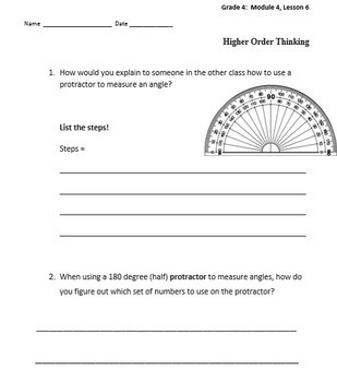 Grade 4 Math ENTIRE YEAR--Higher Order Thinking (HOT) prompts/Questions-Mods 1-7