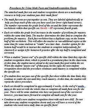 Grade 4 Math Facts Set