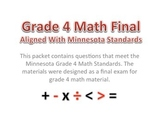 4th Grade - Math Final With Minnesota Standards