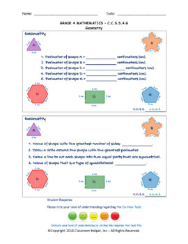 Grade 4 Math - Geometry (Do Now Worksheets)