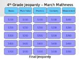 Grade 4 Math Jeopardy Game