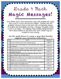 Grade 4 Math Magic--Common Core Practice