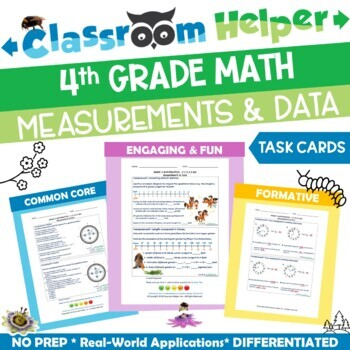 Grade 4 Math - Measurements and Data (Do Now Worksheets)