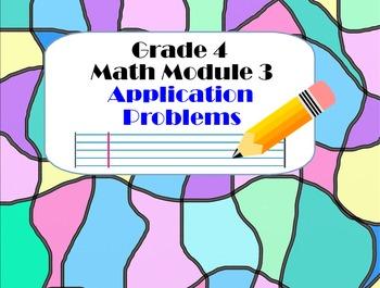 Grade 4 Math Module 3 Application Problem Bundle, Smartboard & Student Notebook