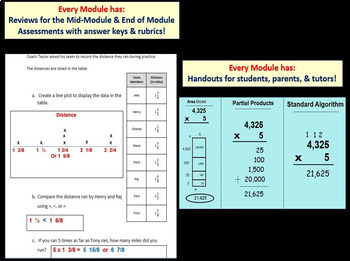 Grade 4 Math Module 3 Entire Module Bundle: Enhanced Student Pgs-HOT q's-Reviews