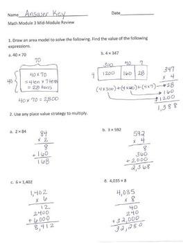 Grade 4 Math Module 3 Review Packet Bundle!  Mid, End , Topics A&B