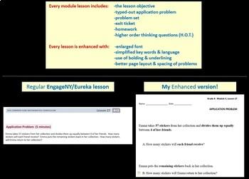 Grade 4 Math ENTIRE Module 4 Topics A-D: Smart Bd, Student Pgs, Reviews, HOT Q's
