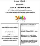 Grade 4, Math Module 4 REVIEW & ASSESSMENT w/Ans keys (pri