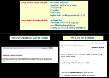 Grade 4 Math Module 5, Lessons 22-41 & End Mod Rev/Assess Bundle! Smart/Stud pgs