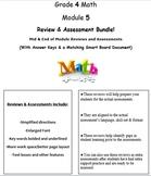 Grade 4, Math Module 5 REVIEW & ASSESSMENT (PDFs, Microsoft Word, & Smart Board)