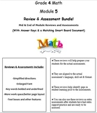 Grade 4, Math Module 5 REVIEW & ASSESSMENT w/Ans keys (pri