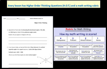Grade 4 Math Module 7 Entire Mod Bundle: Student Pgs & HOT q's & End Mod Review