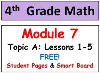 FREE-Grade 4 Math Module 7, Lessons 1-5! Smart Board-Stude