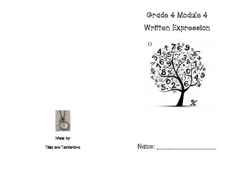 Grade 4 Math Modules 4, 5, 6, and 7 Written Expression Mini Books