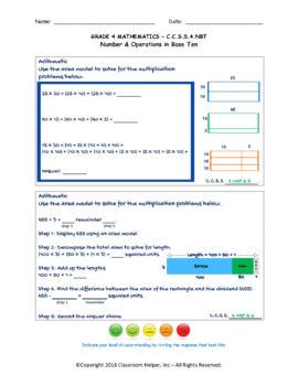 Grade 4 Math - Numbers and Operations in Base Ten (Do Now Worksheets)
