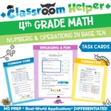 Grade 4 Math - Numbers and Operations in Base Ten (Do Now