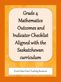 Grade 4 Math Outcome Indicators Checklist
