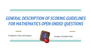 Grade 3-8 Math PSSA Rubric Made Simpler