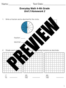 Grade 4 Math Review Study Guide Adapted from Unit 3 New Everyday Math 4