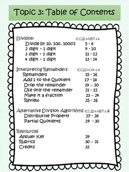 Grade 4 Math Rich Problem Solving: Division