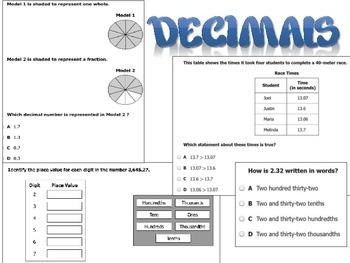 Grade 4 Math SOL Cheat Sheets