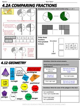 Grade 4 Math SOL Review Packet