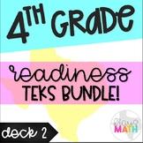 Grade 4 Math STAAR Test Prep Task Cards (DECK 2): READINES