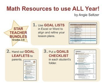 Grade 4 Math STAR TEACHER BUNDLE (Communication, Review, Tracking)