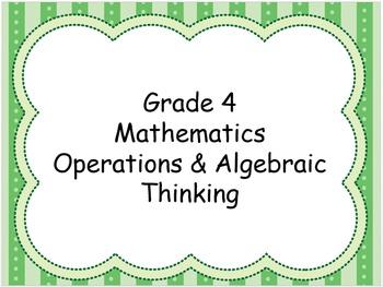 Grade 4 Math Standards
