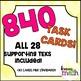 Grade 4 Math Supporting TEKS STAAR Test-Prep Task Cards BUNDLE!