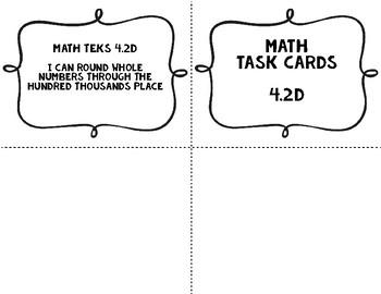 Grade 4 Math TEKS Place Value Task Cards with QR Codes {4.2D}