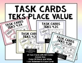 Grade 4 Math TEKS Place Value Task Cards with QR Codes {GR